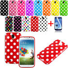 Polka Dot Pattern TPU Rubber Soft Case Cover Skin For Samsung Galaxy S4 i9500 DE