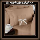 Taupe Solid 4-Piece Bed Sheet Set 1000 Thread Count Egyptian Cotton