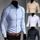 ST226 New Mens Long Sleeve Luxury Casual Slim Fit Stylish Dress Shirts 4 Colors