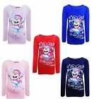 Girls Christmas Colorful Snowman Top With You Melt My Heart Print Age 4-10 Years