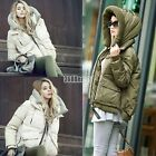 New Women's Winter Thicken Hooded  White Duck Down Down Jacket Warm Coat