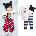 Minnie Mickey Mouse Pajamas Boys Girls  Outfits Suits Set Kids Sleepwear Clothes