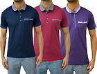Mens Designer Swade Jeans Detail Pattern Collar Polo T-Shirt Smart Jersey Pique