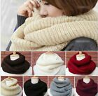 Knitted Hood Neck Circle Cowl Wool Scarf Shawl Wrap Loop Winter Warmer