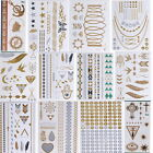 New Metal Tattoos Metallic Gold Silver & Black Temporary Jewelry Flash Tattoo 1p