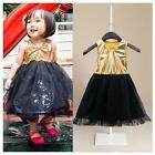 Baby Toddler Children Girl Bowknot Patchwork Christmas Tutu Princess Dress