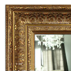 West Frames Elegance Ornate Embossed Antique Gold Wood Framed Wall Mirror