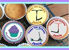 24 PERSONALISED SCOOTER DESIGN EDIBLE RICE OR ICING  CUP CAKE TOPPERS