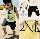 Baby Boys Kids Hoodies Sportswear T-Shirt Tops Clothes and Pants Outfit Set 2-7T