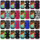 For Samsung Galaxy Light T399 Dual Layer Dynamic Cover Case + Screen Guard