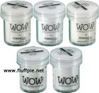WOW! - CLEAR EMBOSSING POWDER 15ml JAR - COLOUR & GRADE CHOICES