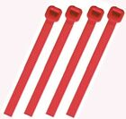 RED PLASTIC CABLE TIES / WIRE TIES - ALL SIZES - HIGH QUALITY HEAVY DUTY TIES