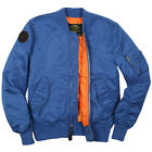 Alpha Industries Burnett MA-1 Flight Jacket   Sage, RepBlue, Pacific Blue, Metal