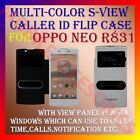 S-VIEW SMART INTERACTIVE PREMIUM RICH LEATHER FLIP CASE for OPPO NEO R831 COVER