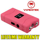 VIPERTEK PINK Mini Stun Gun VTS-880 60 Million Volt Rechargeable LED Flashlight