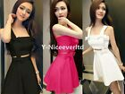 Candy Color Spaghetti Strap Bowed Women Evening Party Prom Wedding Sexy Dress972