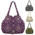 Womens Ladies New Vintage Style Floral Boho Tafetta Wedding Evening Bag Handbag