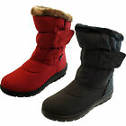 Ladies Warm Faux Fur Lined Winter Pull On Snow Boots Size 4 5 6 7 8