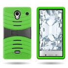 For Sharp AQUOS Crystal - Dual Layer Hybrid Kickstand Rugged Hard Cover Case