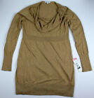 Внешний вид - New Womens Maternity Sweater Long Sleeve Liz Lange Tan NWT Sz Size XL 2XL XXL