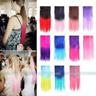 "Two Tone One Piece 26"" Straight Gradient Dip Dye Hair Ombre Clip In Extentions"