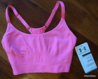 Under Armour UA 1221672 Seamless Essential Sports Bra Tennis Training Top Pink