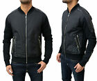 Mens Rough Daimonds Jacket Cardigan Sweater Sweatshirt Top Jumper Leather Patch