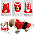 PUPPY SMALL DOG SANTA CLAUS CHRISTMAS BELT COSTUME OUTFIT CLOTHING COAT APPAREL