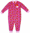 Girl's Angry Birds Pretty Bird All in One Popper Sleepsuit Pyjamas 4-8 Yrs NEW