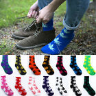 25 Colors Fashion Men's High Cotton Socks Maple Leaf Stocks Ankle High Socks NEW