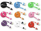3ft Flat Noodle 8 Pin Sync Cable Charger Cord Data For Iphone 5, 6, 6+ Ipod Nano