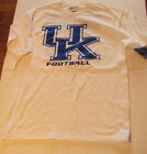 Mens White University of Kentucky Football T-shirt Size Medium Large