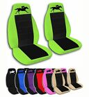 2 Front Horse Racing Velvet Seat Covers with 23 Color Options