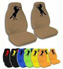 2 Front Mustang Velvet Seat Covers with 18 Color Options
