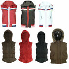 Women Ladies Hooded Quilted Padded Warm Gilet Bodywarmer Coat Waistcoat Jacket