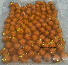 10mm (TINY) POM POMS METALLIC / TINSEL - PACK OF 100 - GOLD OR SILVER