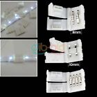 4/20x 2Pin Connector Adapter for 8/10mm 3528 5050 LED Single Color Strip HOME EB