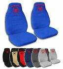 2 Front Spider-Man Velvet Seat Covers with 10 Color Options