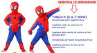 COSTUME DA SPIDERMAN UOMO RAGNO FILM FAMOSI CARTONI ANIMATI SUPER MAN COSPLAY
