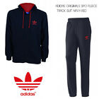 ADIDAS ORIGINALS SPO FLEECE JOGGING SUIT JACKET AND BOTTOMS IN NAVY ALL SIZES