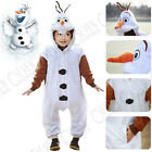 FROZEN INSPIRED OLAF SNOWMAN ONESIE DRESS PYJAMAS FOR AGE 2-12 KIDS GIRLS BOYS