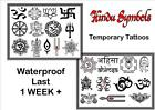 HINDU hindi symbols X12 X24  temporary TATTOOS waterproof  LAST1WEEK+