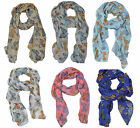 Ladies Scarf Summer Scarf Butterfly Scarf Animal Print Butterfly Print sc65
