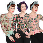 Womens Vintage Floral Rockabilly 40s 50s Cardigan Top