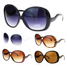 Extra Large Oversized Curved Drop Temple Womens Butterfly Fashion Sunglasses