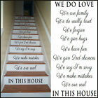LARGE STAIRS STICKERS NEW DESIGN FONT IN THIS HOUSE RULES WE ARE FAMILY LOVE