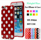 Stylish Polka Dot Pattern TPU Rubber Soft Case Cover Skin For iPhone 6 4.7 inch