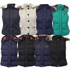 Ladies Gilet Brave Soul Womens Padded Bodywarmer Hooded Jacket Checked Winter