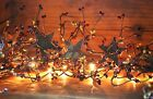 Teeny Light Burgundy  Gold Lighted Pip Berry Garland Electric