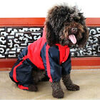 Pet Dog Puppy Raincoat Poncho Clothes Apparel Waterproof PU Leather Coat